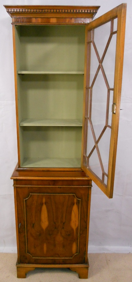 Yew Bookcase Cabinet Of Small Proportions